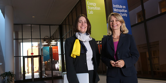 Ellen Anderson and Hari Osofsky of the Energy Transition Lab