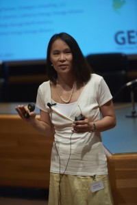 Janice Lin Keynote Speaker of the Energy Storage Summit at the University of Minnesota Law School on July 15, 2015 in Minneapolis, Minnesota. © Tony Nelson